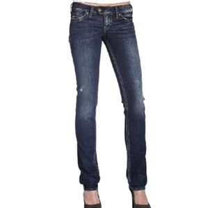 W28/L33 SILVER JEANS, Tuesday Style, Low rise, Boot-cut, Ripped Knees EUC